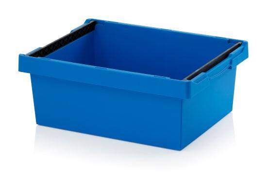 Auer Mehrwegbehälter 60 x 40 x 22 blau mit Stapelbügel