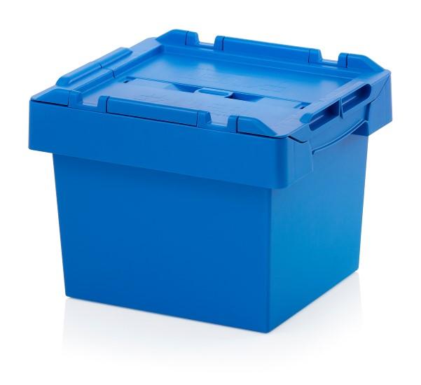 Auer Mehrwegbehälter 40 x 30 x 29 blau mit Deckel