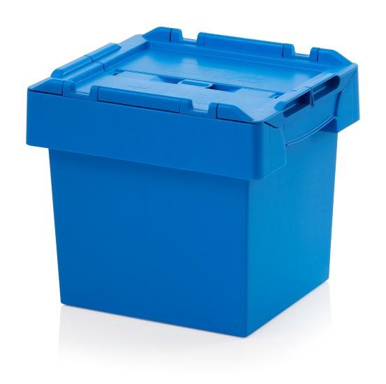 Auer Mehrwegbehälter 40 x 30 x 34 blau mit Deckel