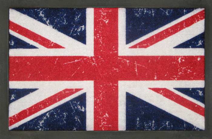 fu matte union jack flag england gro britannien united. Black Bedroom Furniture Sets. Home Design Ideas
