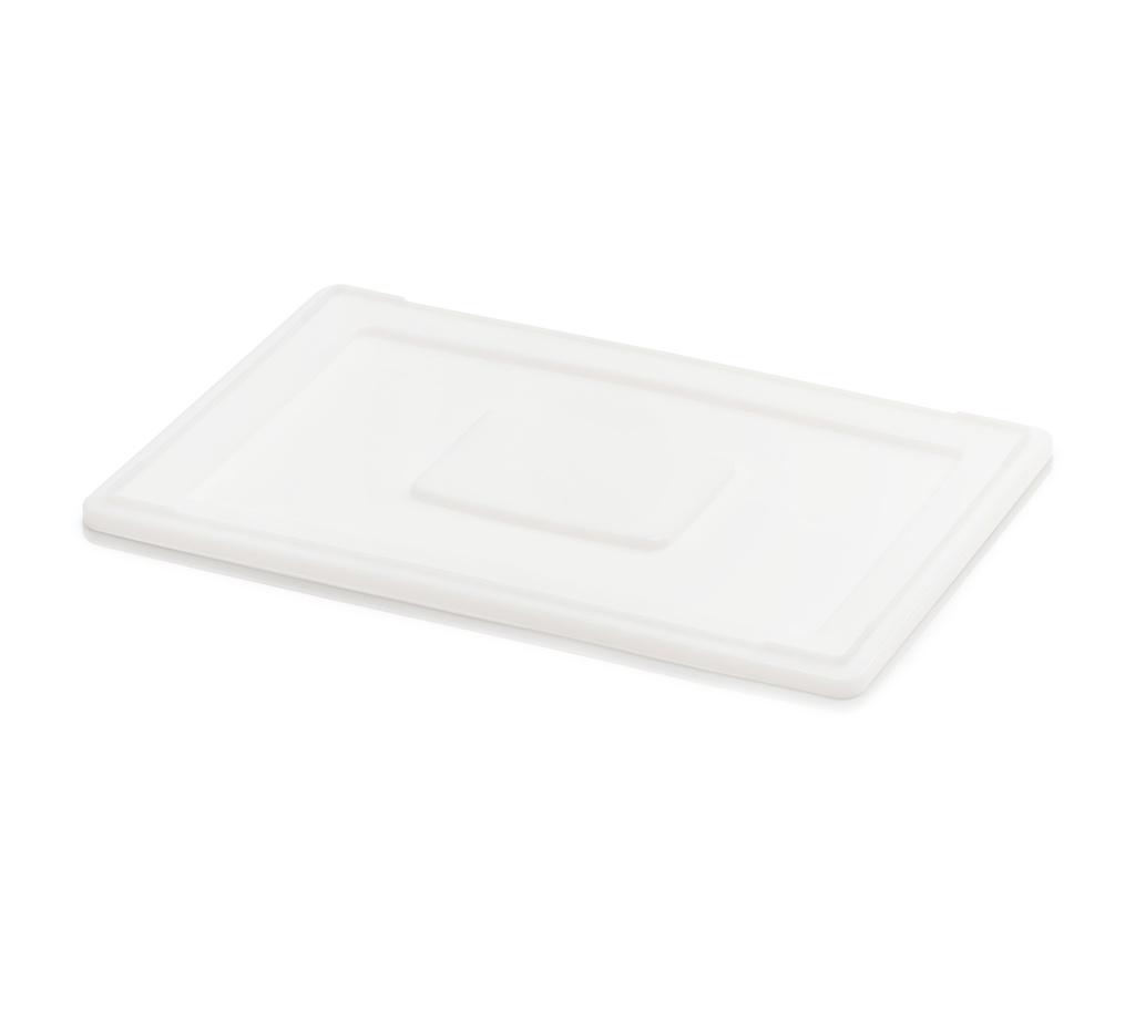 Auflagendeckel 60 x 40 für Teigbehälter weiß
