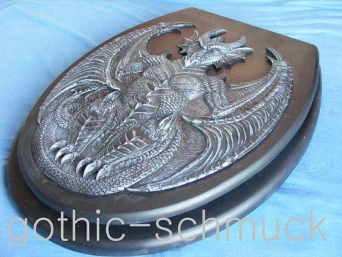 sedile wc dragon drago gothic skull mostro face ebay. Black Bedroom Furniture Sets. Home Design Ideas